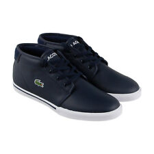 Lacoste Ampthill 118 2 Cam Mens Blue Leather Lace Up Sneakers Shoes