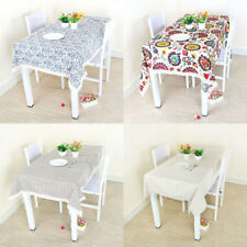 Vintage Lace Tablecloth Cotton Linen Fabric Dinner Picnic Table Top Covers