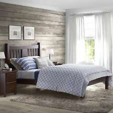 Grain Wood Furniture Shaker Queen Slat Platform Bed solid wood