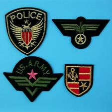 4 Army Military Police Insignia Iron on Sew Embroidered Patch Badge Applique Lot