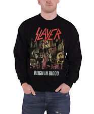 Slayer Classic Distressed Reign In Blood Official Mens New Black Sweatshirt