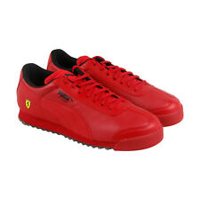 Puma Sf Roma Mens Red Leather Lace Up Sneakers Shoes