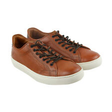 Frye Walker Low Lace Mens Tan Suede hightop Lace Up Sneakers Shoes