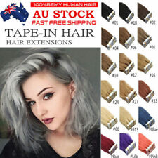 """Grade 6A 16"""" Premier Indian Tape in 100% Remy Real Human Hair Extension AU Stock"""
