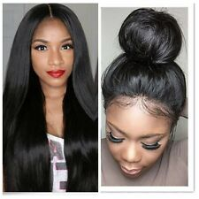 Remy Human Hair Lace Front Wigs Brazilian Glueless Full Lace Wig Silky Straight