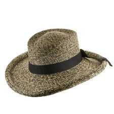 Malibu Gambler Straw Panama Hat with Rolled-Up Brim