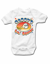 Funny Cute Slogan Baby Grow Daddys Little Squirt Official Babies New White Vest