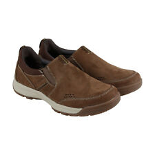 Clarks Wavescree Step Mens Brown Nubuck Casual Dress Slip On Loafers Shoes