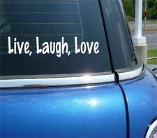 LIVE LAUGH LOVE FAMILY FUNNY DECAL STICKER ART CAR WALL DECOR