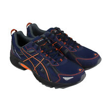 Asics Gel Venture 5 Mens Blue Mesh Athletic Lace Up Running Shoes