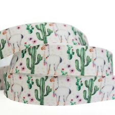 """7/8""""22mm The Cactus Grosgrain Ribbon 10/100 Yards Hairbow Wholesale"""