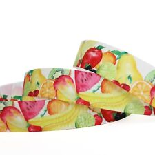 """7/8""""22mm Fruits Grosgrain Ribbon 10/100 Yards Hairbow Wholesale"""