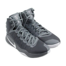 Nike Hyperdunk 2016 Mens Gray Mesh Athletic Lace Up Basketball Shoes
