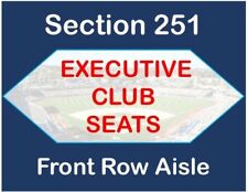 LA Dodgers vs Cincinnati Reds 2 Tickets - Exec Club - FRONT ROW AISLE - Thu 5/10