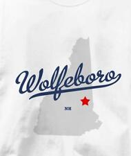 Wolfeboro, New Hampshire NH MAP Souvenir T Shirt All Sizes & Colors