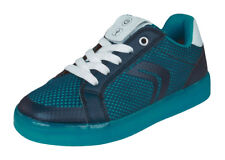 Geox Boys Sneakers J Kommodor B.A Casual LED Flash Lights Shoes - Navy and Blue