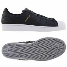 adidas ORIGINALS SUPERSTAR WOVEN TRAINERS BLACK WEAVE SHOES SNEAKERS CLAM RUBBER