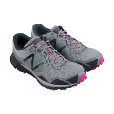 New Balance Trail Womens Gray Mesh Athletic Lace Up Running Shoes