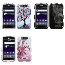 For LG Connect 4G MS840 Design Snap-On Hard Case Phone Cover