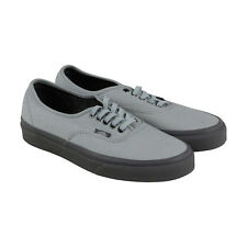 Vans Authentic Mens Gray Textile Lace Up Sneakers Shoes