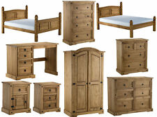 Birlea Corona Pine Bedroom Furniture - Distressed Waxed Finish - Mexican Style
