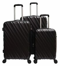 "3 PACK 20"" 24"" 28"" Luggage Travel Set Bag ABS Trolley Suitcase Spinner Hardshell"