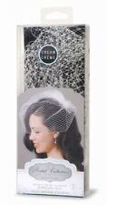 David Tutera Cream Birdcage Wedding Veil with Attached Comb 18 Inches New