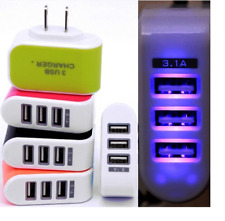 Universal Three USB Ports Outlet Wall Charger AC Power Adapter 3.1A Fast Charge