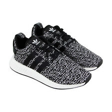Adidas Nmd R2 Mens Black Textile Athletic Lace Up Running Shoes