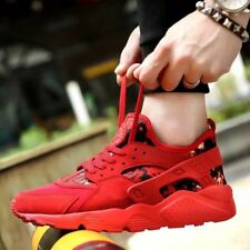 Mens Sports Shoes Lace Up Casual Flats Running Sneakers Trainers Outdoor New