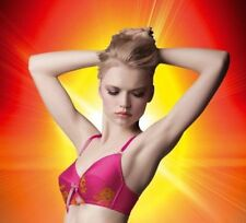 FRONT CINCH BRA MADE BY NIKI 30F 30G 32F ELECTRIC SHOCK PINK ORANGE VINTAGE NEW