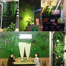 Green Artificial Screen Plants Vertical Garden Hedge Lawn Wall Grass Anti-UV NEW