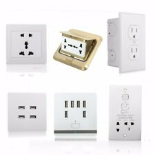 USB Port Wall Socket Charger AC Power Receptacle Ground Outlet Plate Panel LOT