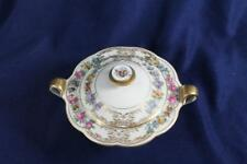 ROYAL BAYREUTH DRESDEN FLOWERS GOLD LACE COVERED SUGAR BOWL