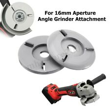 90mm Woodworking Turbo Plane F/ Aperture Angle Grinder Wood Carving Blade Silver