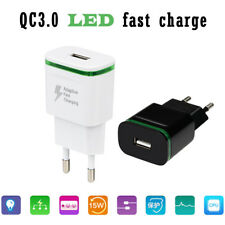 Dual 2 Port USB 5V 3.1A LED Home Travel Fast Charging Phone Wall Charger Adapter
