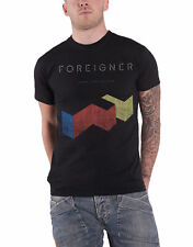 Foreigner T Shirt Vintage Agent Provocateur Band Logo Official Mens New Black