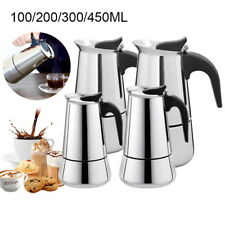 Moka  2/4/6/9 Cup Stainless Steel Coffee Maker with Safety Valve GIFT