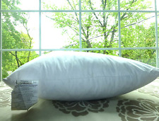 "WEST ELM POTTERY BARN White GOOSE DOWN FEATHER PILLOW INSERT 18"" 20""Square 12x20"