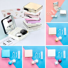 Cute Mini Travel Contact Lens Case Box Container Holder Eye Care Tool Kits NEW