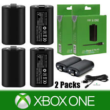 2Pack For Official Microsoft XBOX ONE Controller Play and Charge Kit 1400mAh