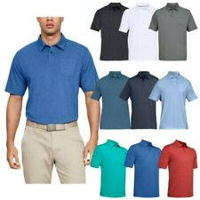 Under Armour Mens CC Scramble Polo Shirt Top Golf Charged Cotton Short Sleeve
