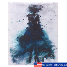 Watercolor Fashion Girl Abstract Art Canvas Print Oil Painting Poster Home  CA
