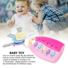 Baby Kid Music Smart Remote Car Key Voices Pretend Play Development 10 Songs Toy