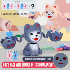 Animal Dog Balance Scale Toy Educational Math Game Number Kids Learning Gift