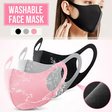 Face Mouth Nose Cover Washable Breathable Anti Dust Protection Safety Ice Silk