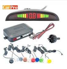 Car Parking Sensor Kit Reverse Backup Radar System Led Rear Alarm 4 Buzzer Alert