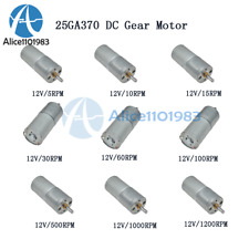 12V DC 30/60/600RPM Powerful Torque Micro Speed Reduction Gear Box Motor Part
