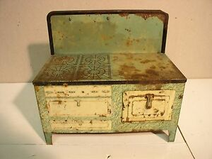 old tin toy stove by mfg