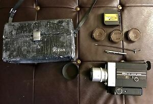 nikon super 8 zoom movie camera untested